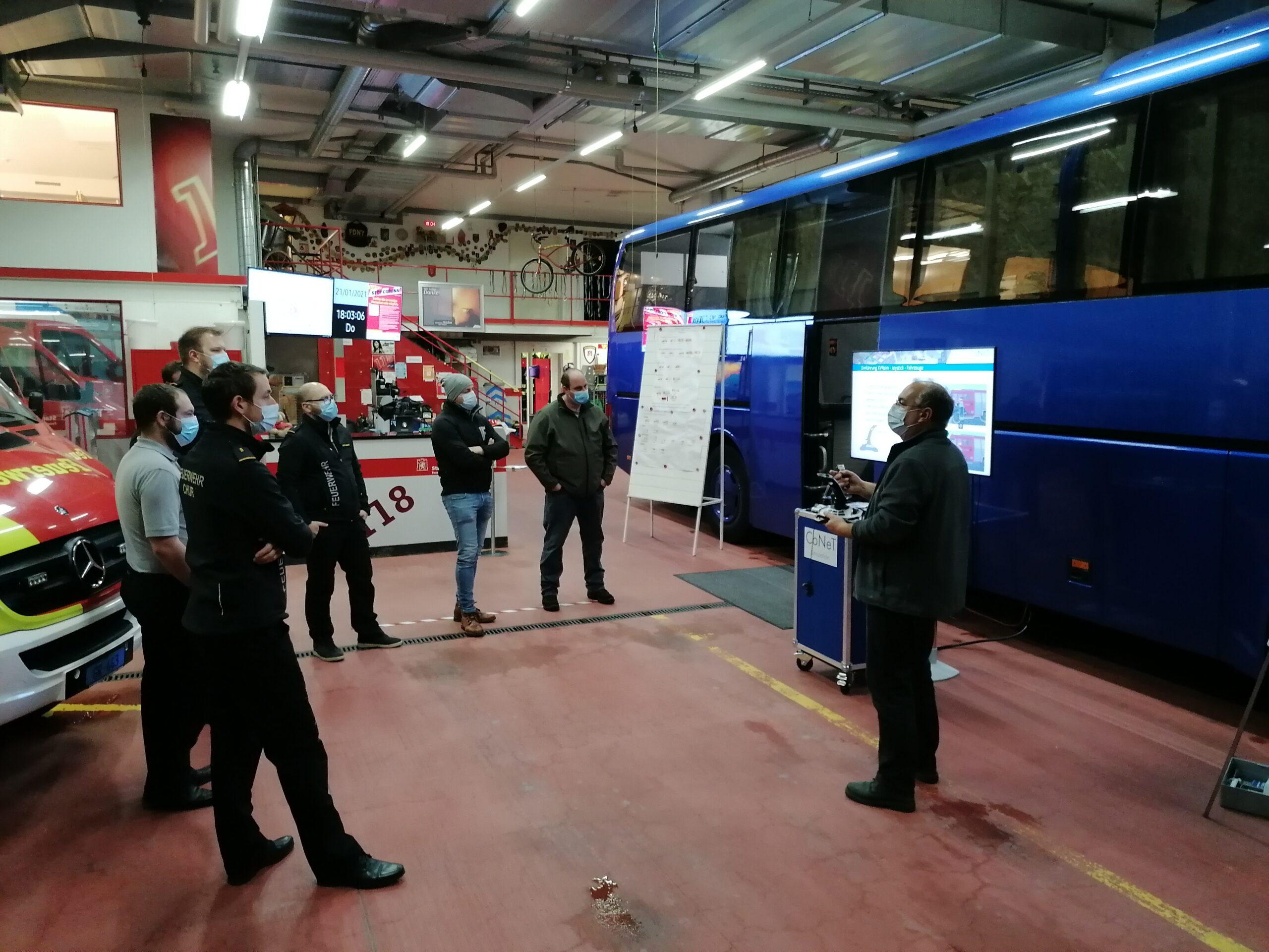 Erster Einsatz des neuen VR-Busses in Chur